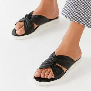 Urban Outfitters Black & White Crossed Sandal